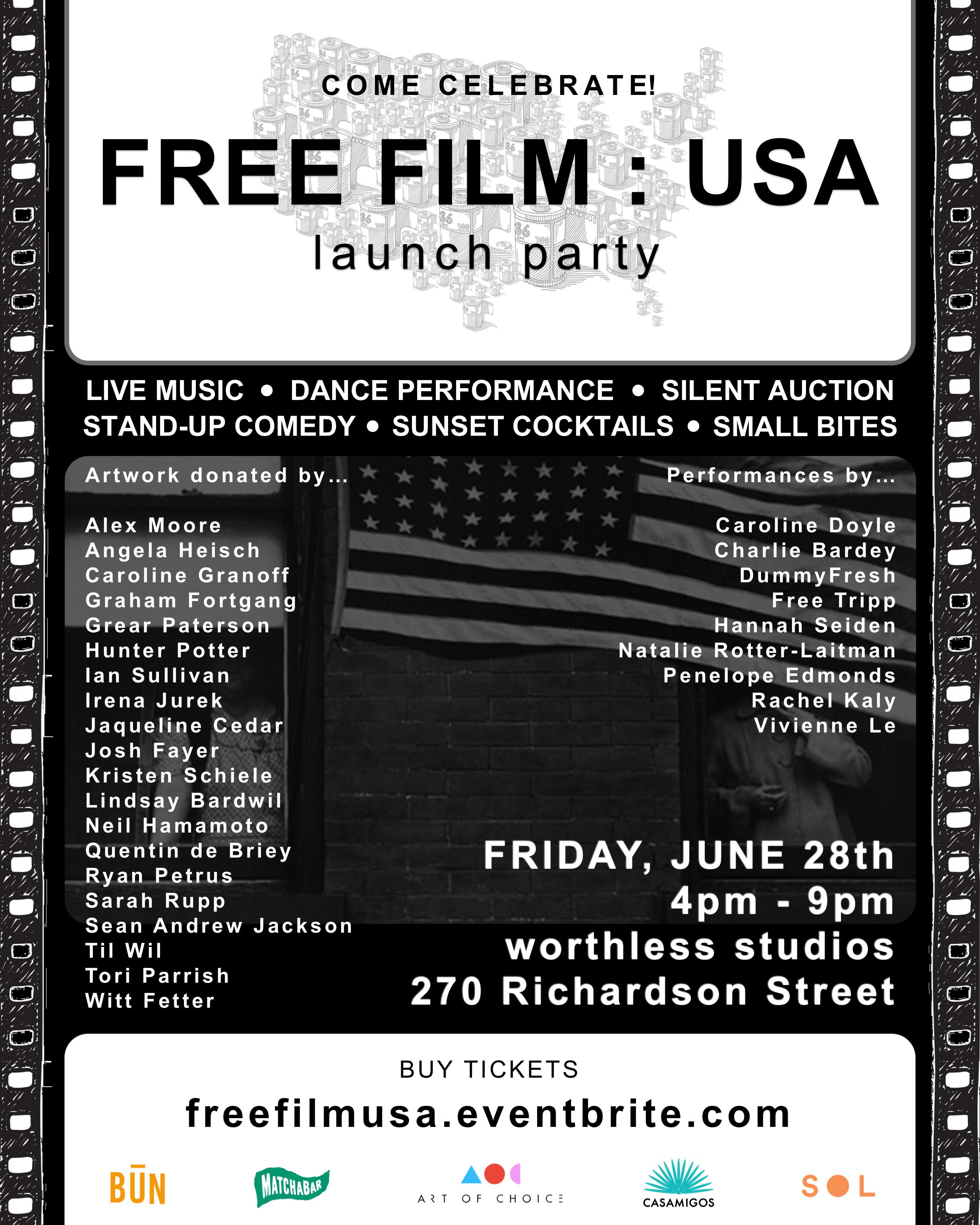 FREE FILM : USA   SILENT AUCTION   WORTHLESS STUDIOS, BROOKLYN NY  JUNE 2019