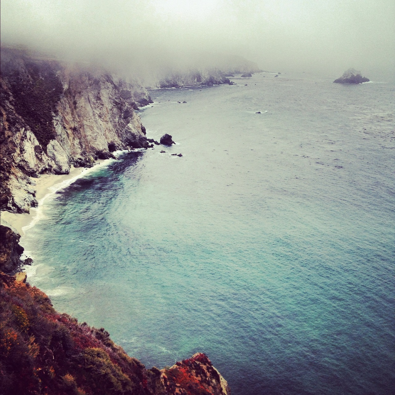 outofreception :     Socked in in Big Sur     Big Sur, please give me the right excuse to live in you for three months, maybe?