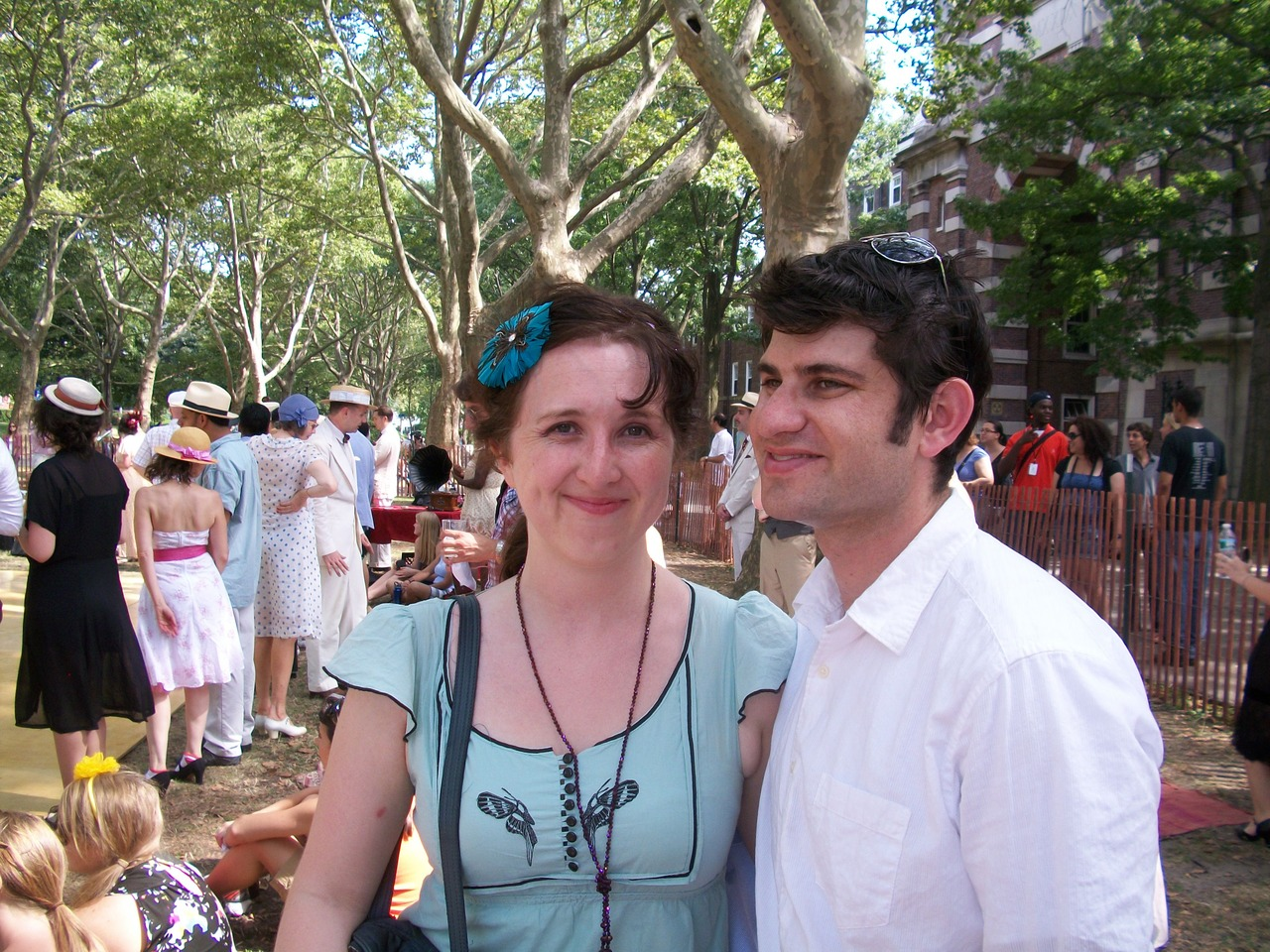 Jazz Age Lawn Party, Governor's Island. We may have heatstroke in this photo.
