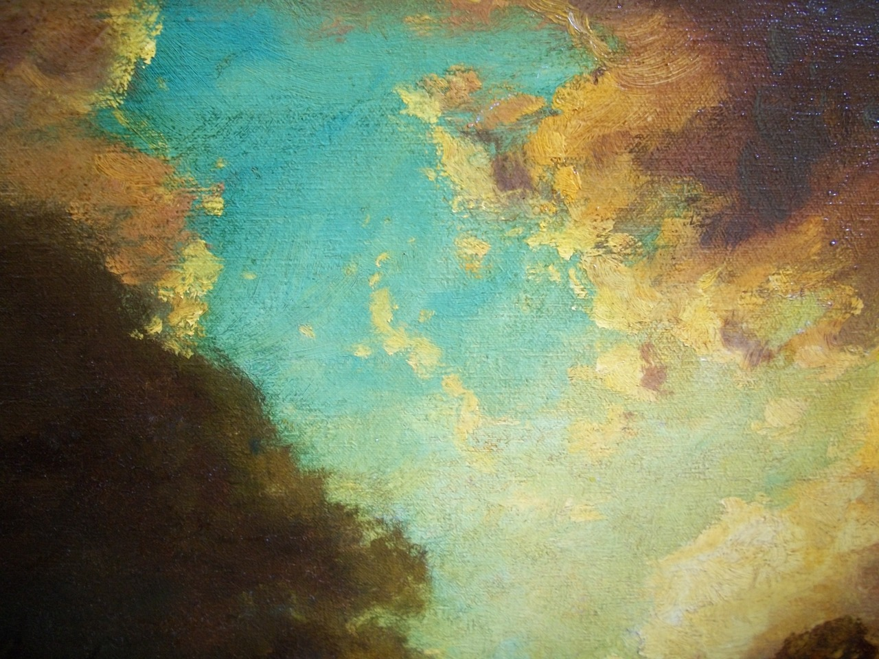 Detail from a painting that is 200 years old and costs a lot of money. (Hudson River School, no flash)