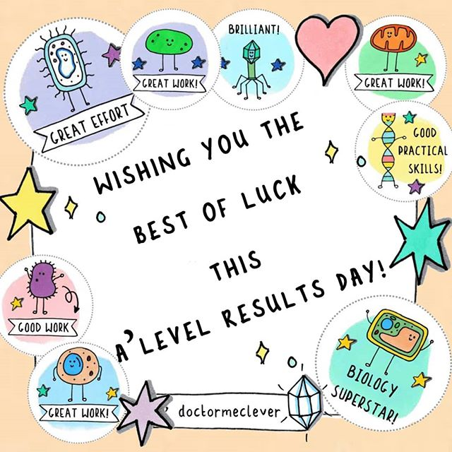 💌🙏It's here! A'level results day 2019! Wishing you the very best of luck if you're picking up your results today. Let me know how you do. Please send some love and comment your good luck messages below ❤️. . . ---------------------------------- eBooks, stickers and more: www.doctormelever.com Youtube: www.youtube.com/doctormeclever  #DoctorMeClever ---------------------------------- #GCSEBiology#GCSE2020#GCSEs2020#GCSEs2021#GCSEexams#Biologyteacher#Biologystudent#GCSEscience#biologyfacts#revision#studying#exams#scienceisawesome#biologyresources#biology#biologyhelp#studymotivation#studyblr#visualthinking#doodlenotes#School#Revisionnotes#biology101 #alevel #alevelbiology #resultsday #alevelresultsday2019 #alevelresults #alevelresultsday