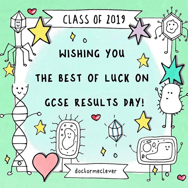 🤩💌Arggghhhh it's here!!! GCSE results day 2019! I wanted to wish you the very best of luck and I will be thinking about you all. I'd love to hear how you got on and I'm not talking about hearing your grades if you would like to keep them private, just want to know how you're doing. Bring it on! 🤩 ---------------------------------- eBooks, stickers and more: www.doctormelever.com Youtube: www.youtube.com/doctormeclever  #DoctorMeClever ---------------------------------- #GCSE#GCSEs#GCSEBiology#GCSE2020#GCSEs2020#GCSEs2021#GCSEexams#Biologyteacher#Biologystudent#GCSEscience#biologyfacts#revision#studying#exams#scienceisawesome#biologyresources#biology#gcseresults #gcseresultsday #gcseresultsday2019 #gcsememes #resultsday2019 #resultsday #imgettingmyresultstoday #GCSEs2019 #GCSE2019