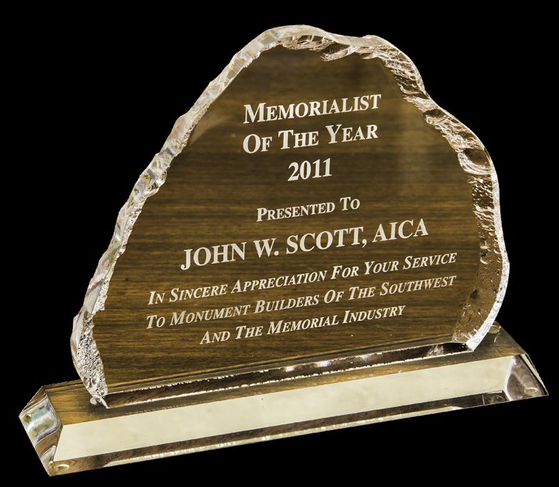 Memorialist of the Year Award