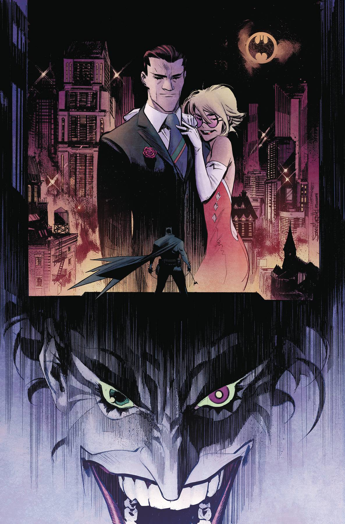 "BATMAN WHITE KNIGHT BATMAN DAY 2018 #1 SPECIAL ED By Sean Murphy  Set in a world where The Joker is cured of his insanity and homicidal tendencies, The Joker, now known as ""Jack,"" sets about trying to right his wrongs. First he plans to reconcile with Harley Quinn, and then he'll try to save the city from the one person who he thinks is truly Gotham City's greatest villain: Batman!"