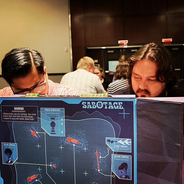 Vault GR and Vault A2's board game bros, Daniel and Brandon, were enamored by espionage filled cat and mouse game SABOTAGE, from the dudes who brought you BURGLE BROS.  What caught your eye at #gencon ?