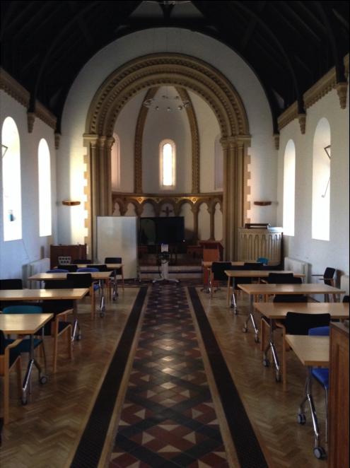 Jenny Lind Chapel set up for Business School