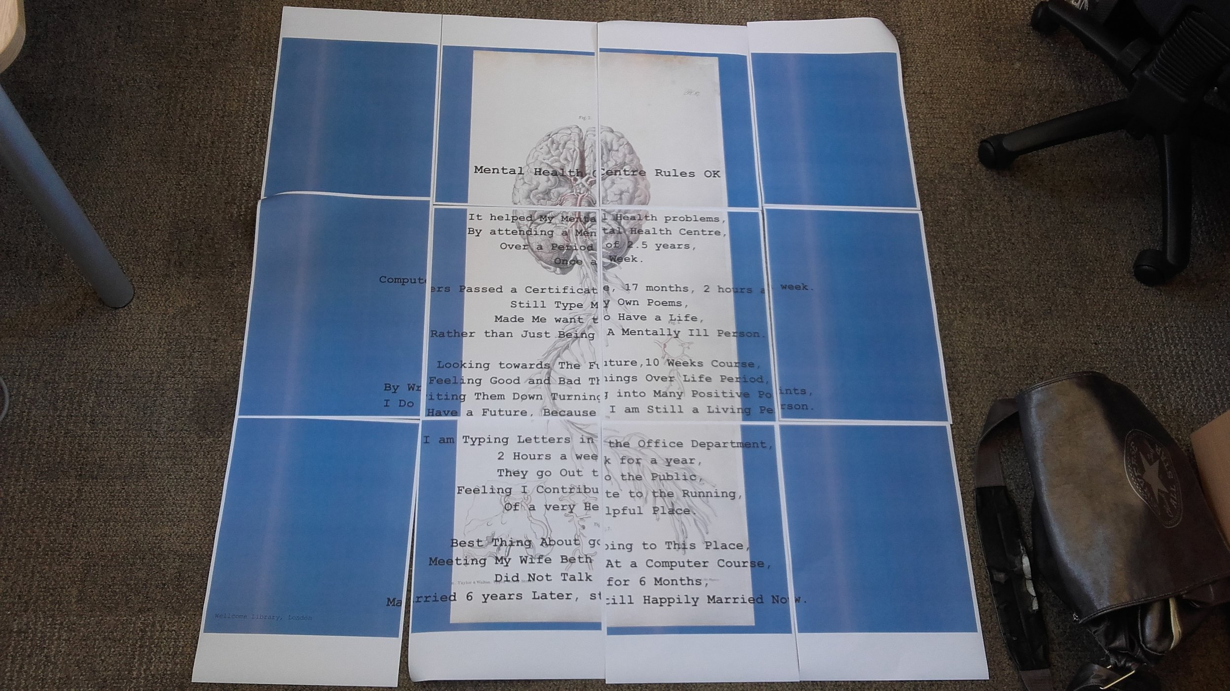 Jigsaw of poster created in actual size