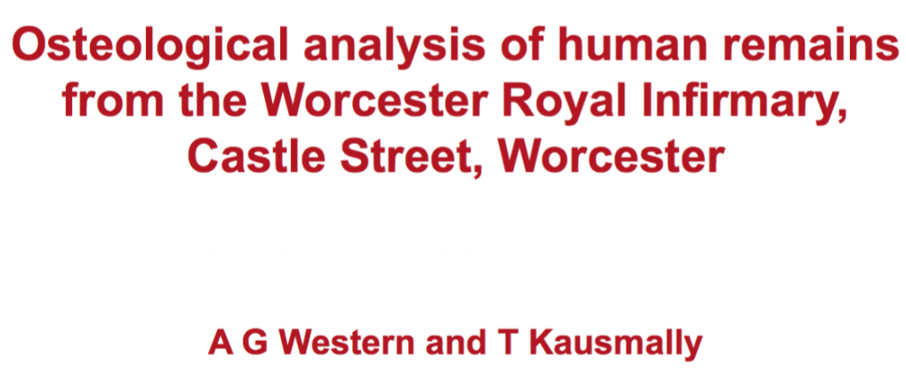 WORCESTERSHIRE ARCHAEOLOGY RESEARCH REPORT NO 3