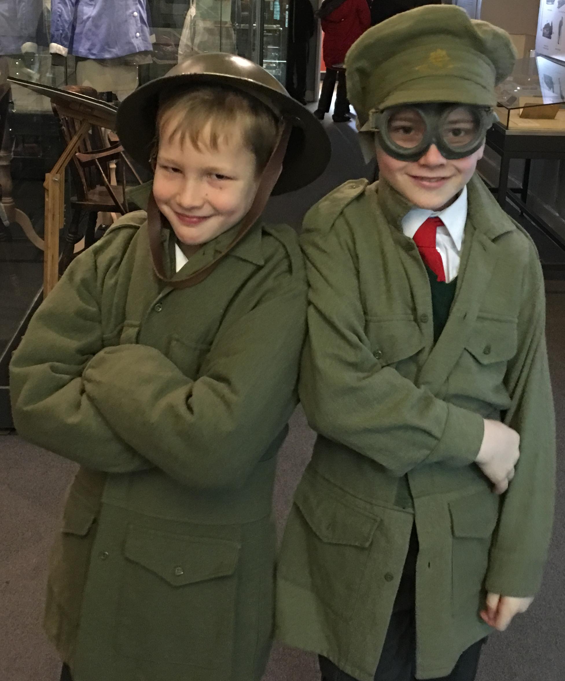 Two boys in FWW Soldier