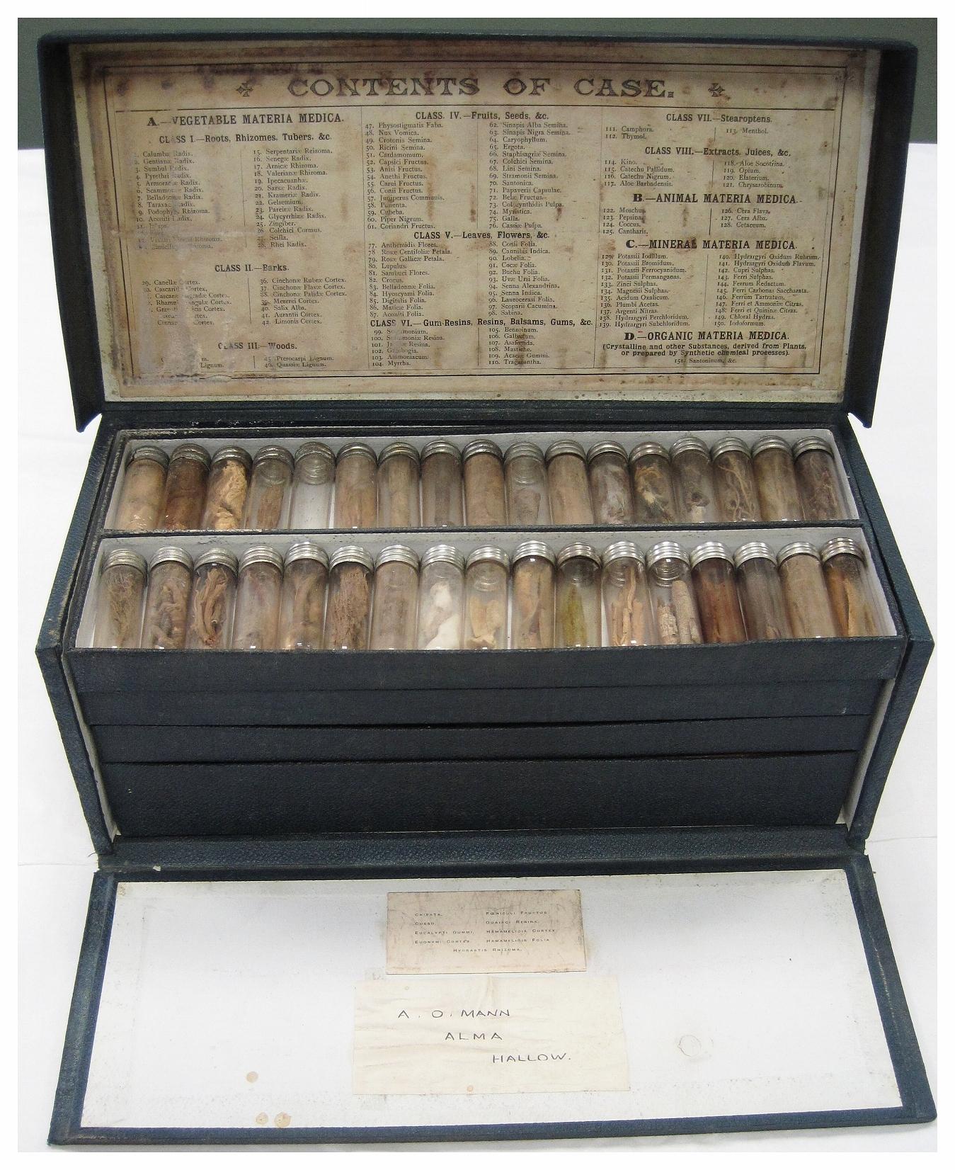 - Image of Alan Mann's remedy kit.