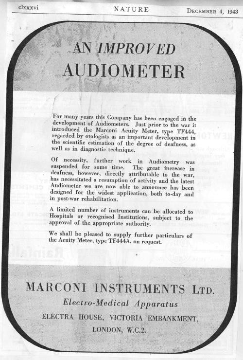 improved audiometer TF444A advert .jpg