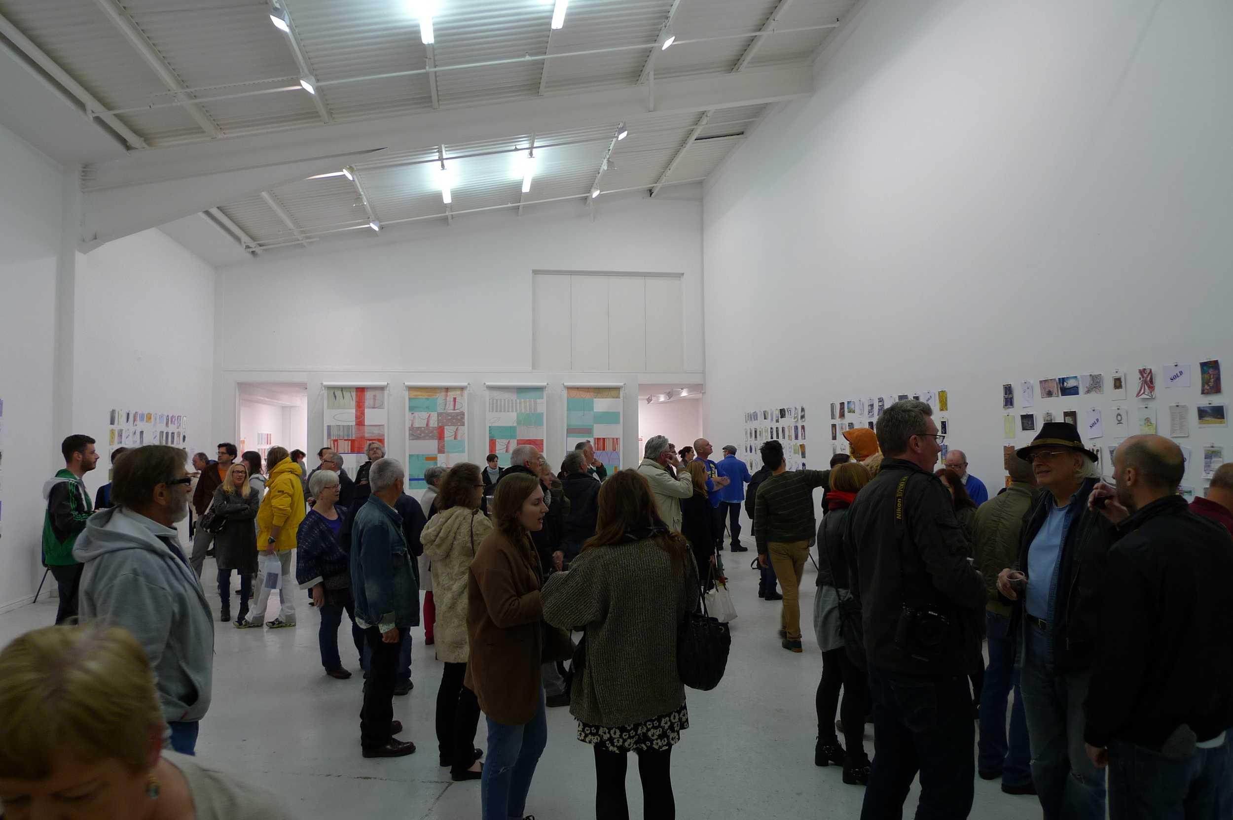 The rain was persistent but everyone still came out for a great opening night, was the free bar that much of an enticement..? Thanks again to the the no format Gallery for having us