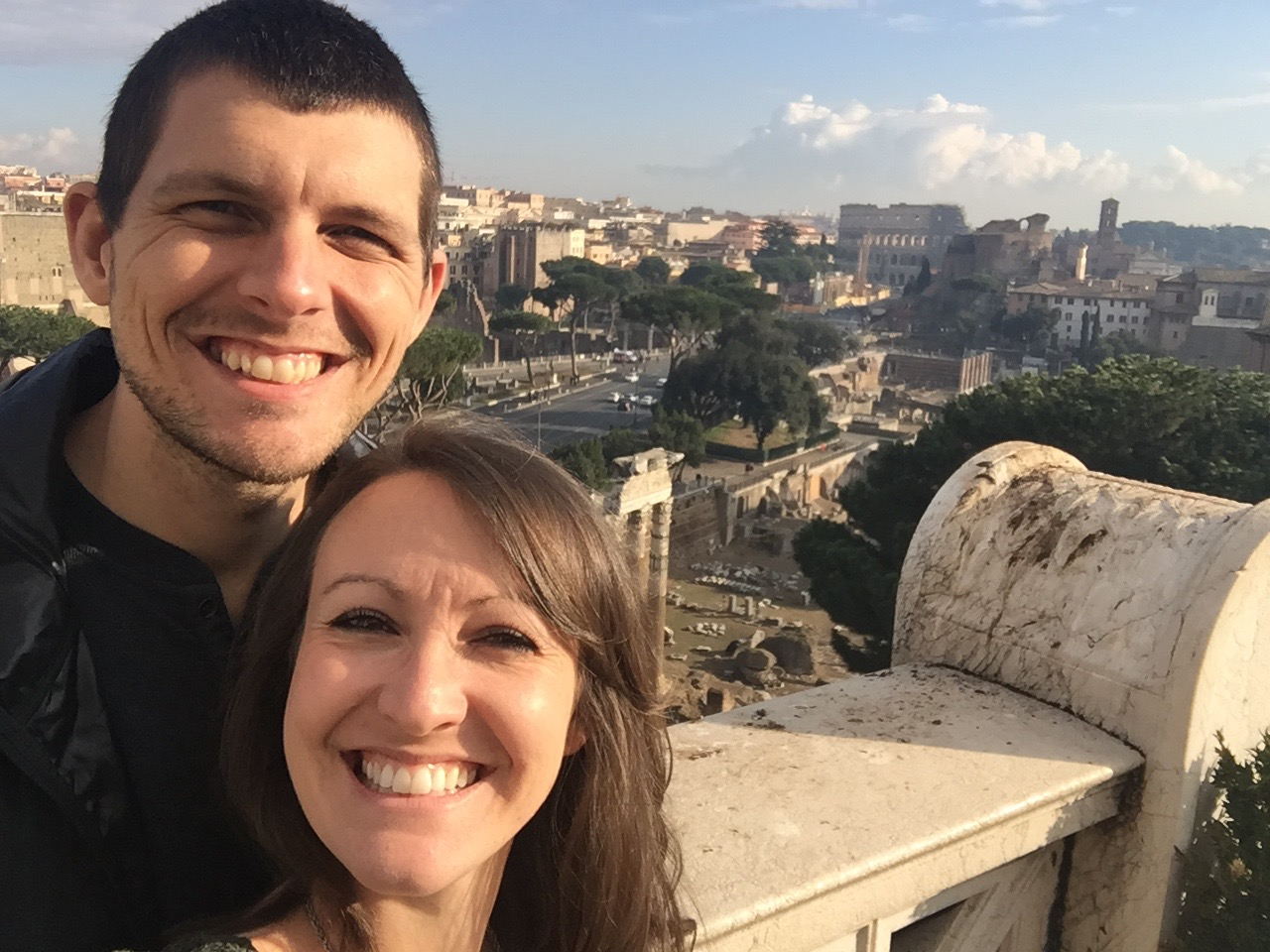 Overlooking beautiful Rome, Italy!
