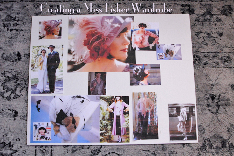 Miss Fisher Mood Board (Also includes Roaring 20's Hat)