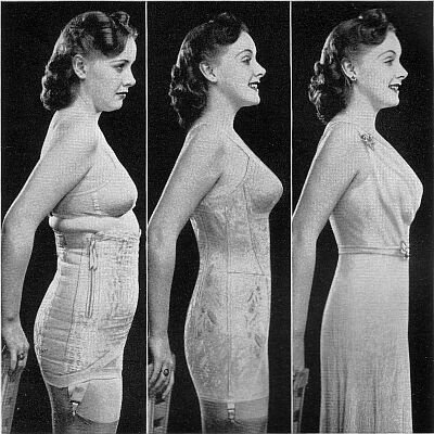 This really illustrates the silhouette of the 1930's shape.