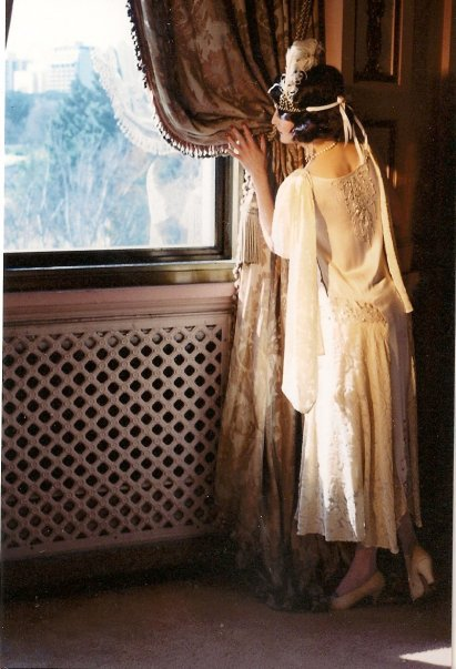a 1920's style beaded silk and velvet gown photo by Laurie Gordon