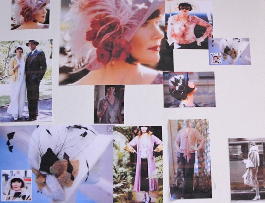my Miss Fisher Mood Board that inspires me to dress like this sassy lady!