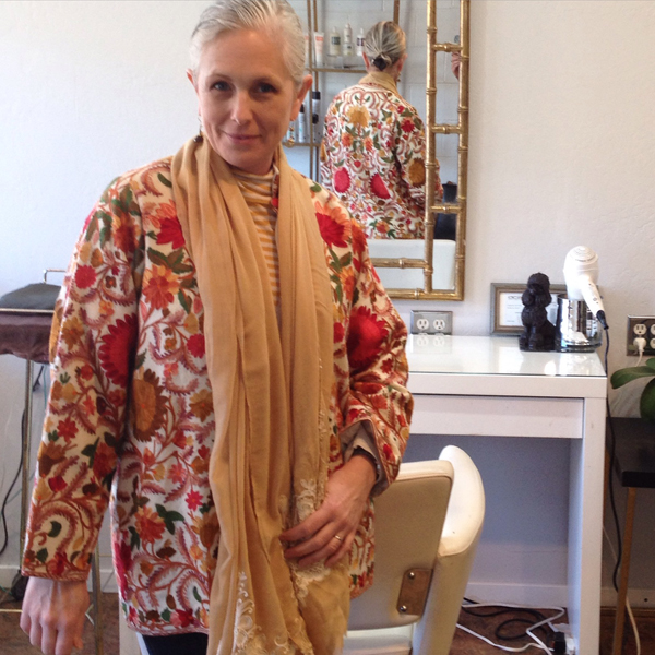 This embroidered coat came from the Vintage Fair at Alameda Point last fall.