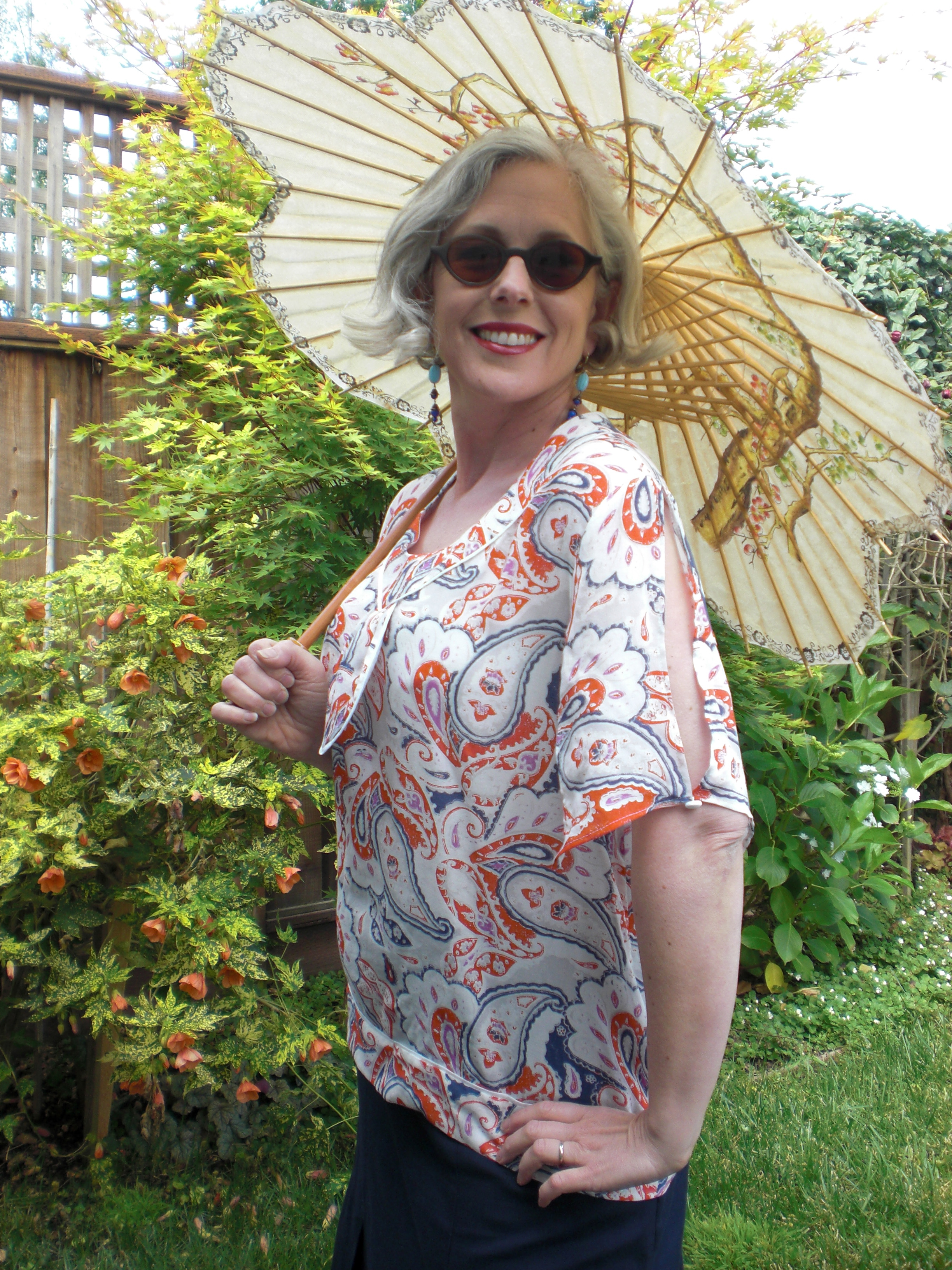Finished Blouse #3. This is a great blouse for summer and I am super excited to wear it as the weather warms up.