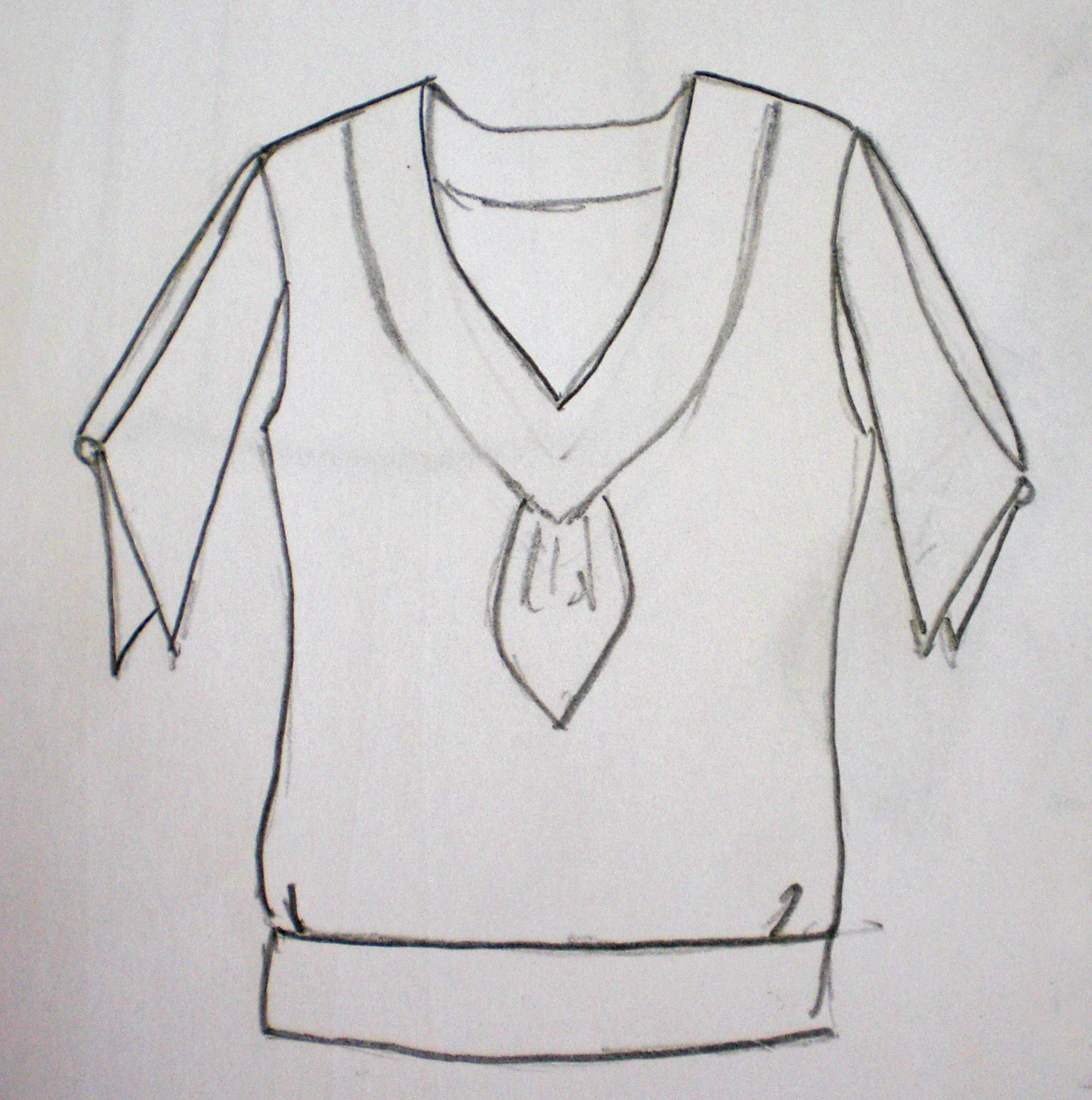 I sketched this after watching Series 2 episode 3 (Dead Man's Chest). I remember more clearly about this blouse after listening to  The Miss Fisher Philes podcast  where they discuss this episode, making reference to Miss Fisher wearing more separates than dresses in the episode.