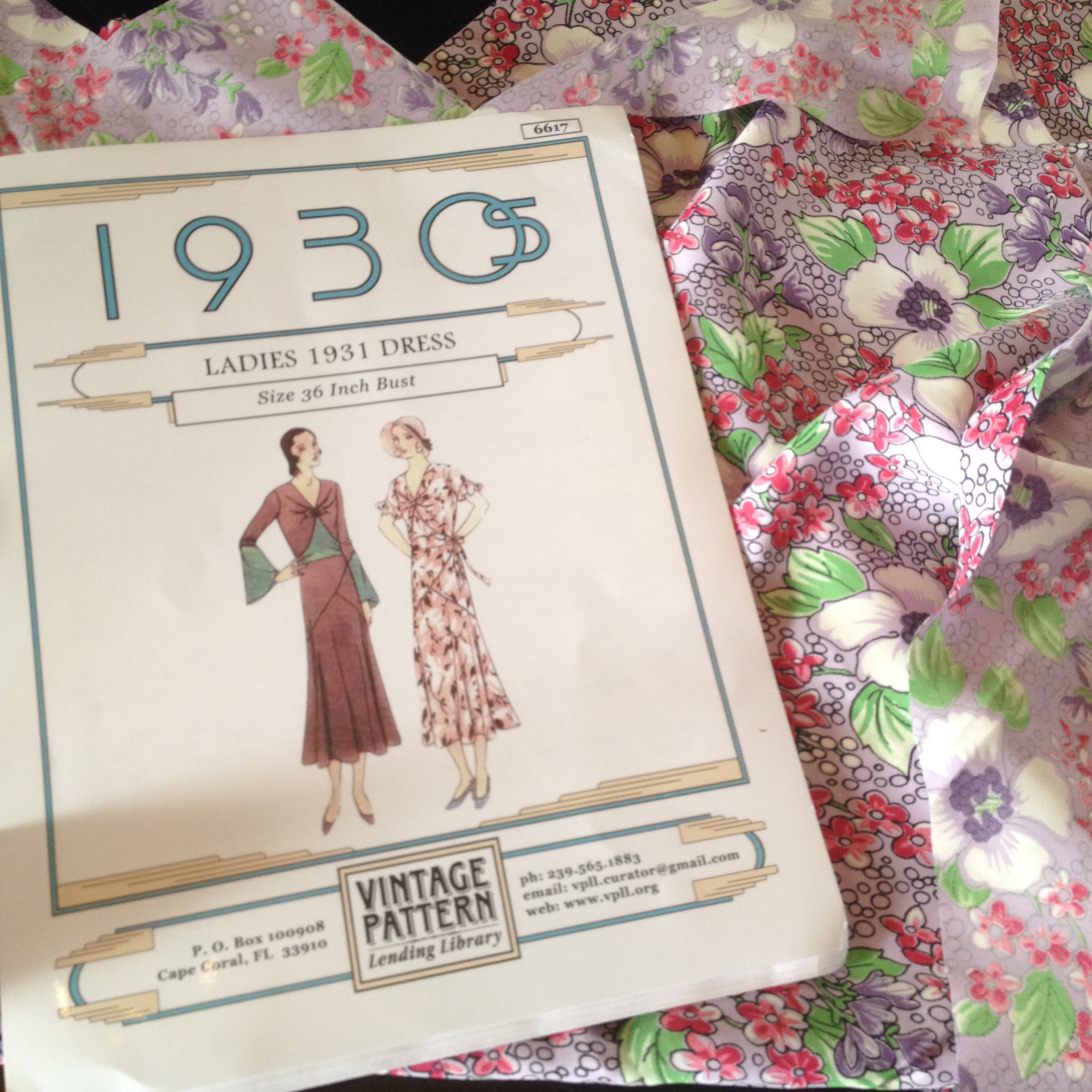"Here is the pattern I'm using and the fashion fabric I'll use for my actual ""Gatsby"" dress."