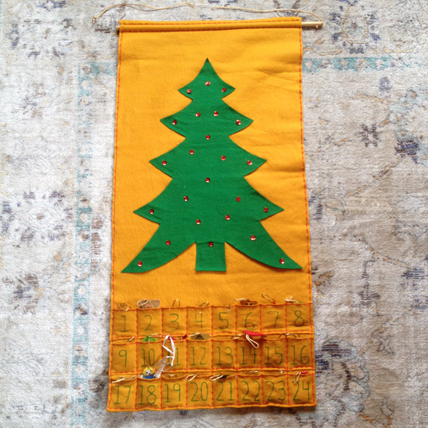 "This  is the ""Vintage"" Advent Calendar that we use for Christmas every Year"