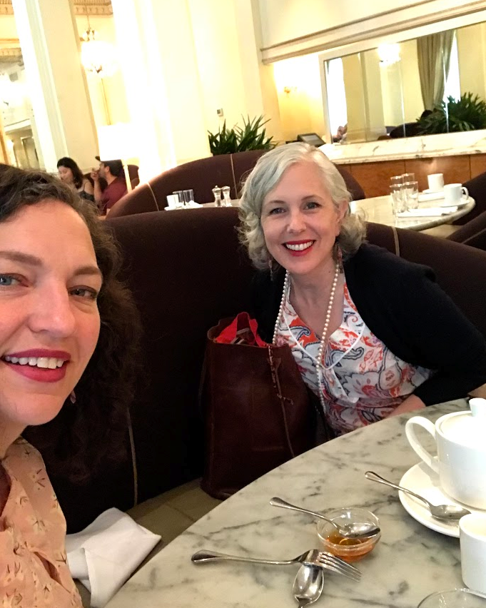 Angie and I breakfasting at Gracie's The wonderful restaurant at the Hotel Deluxe