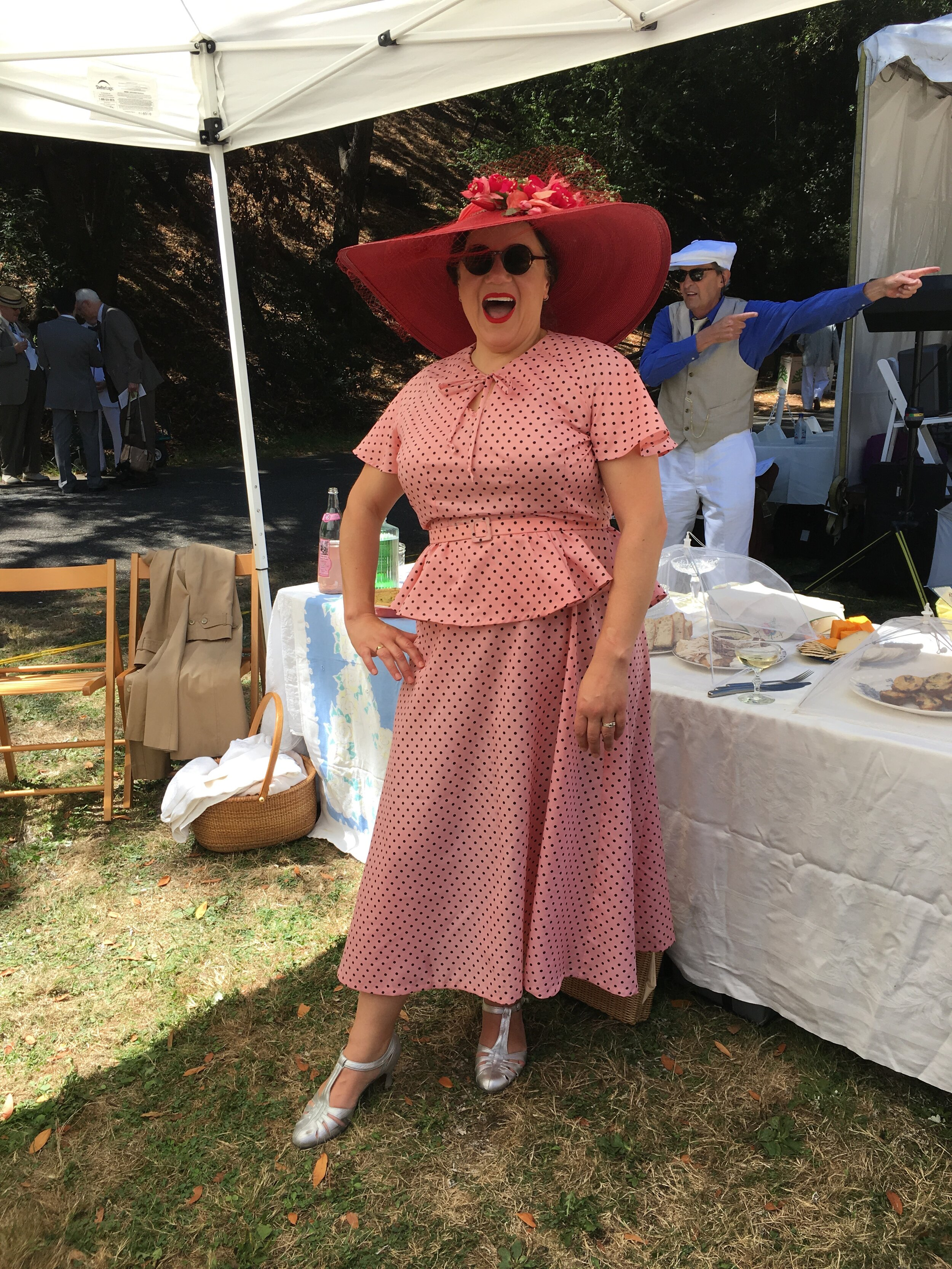 Dottie (she and Patty had enormous and wonderful hats)