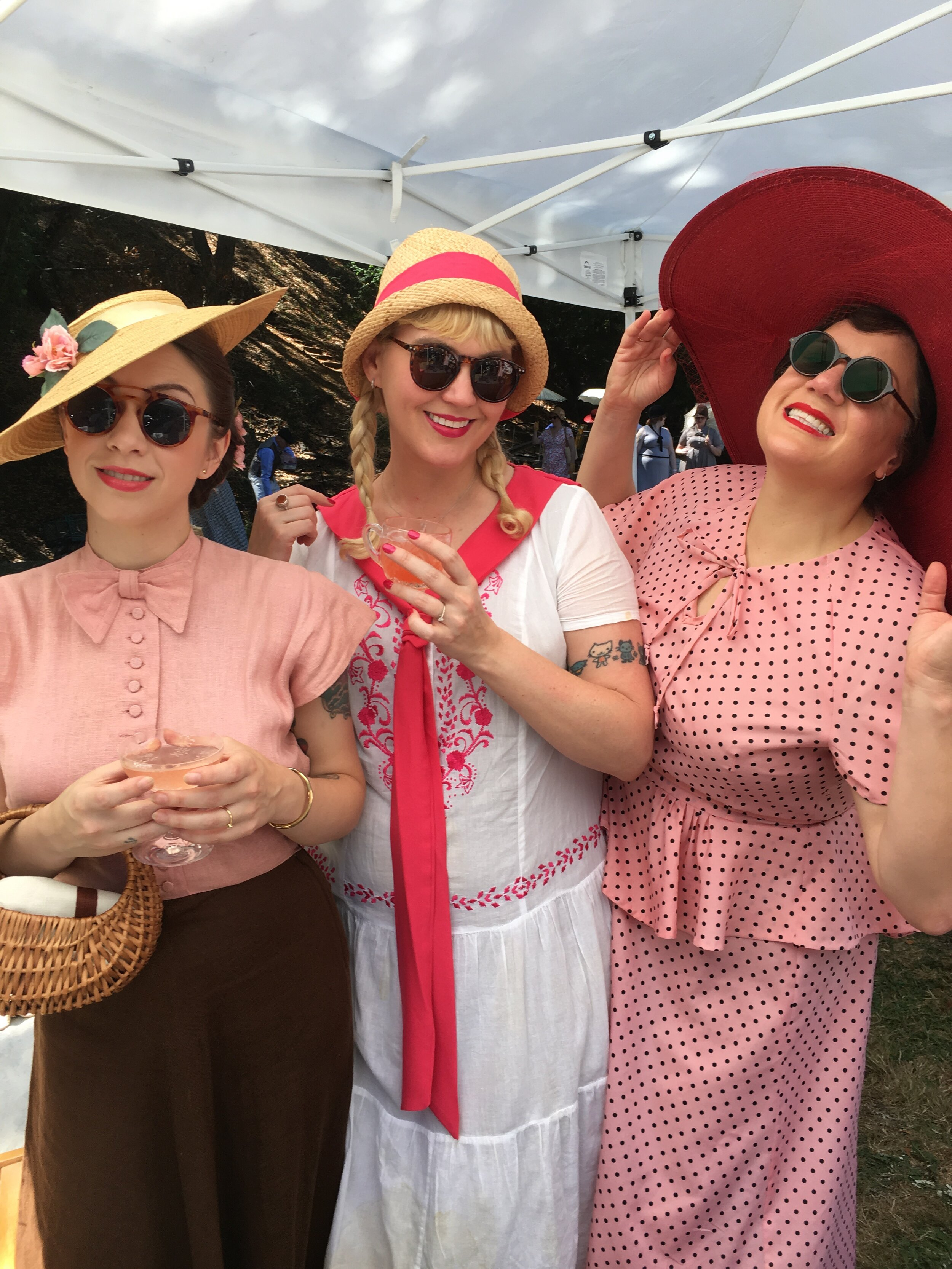 Brie, Taggy Lee & Dottie - So fabulous and Pink!