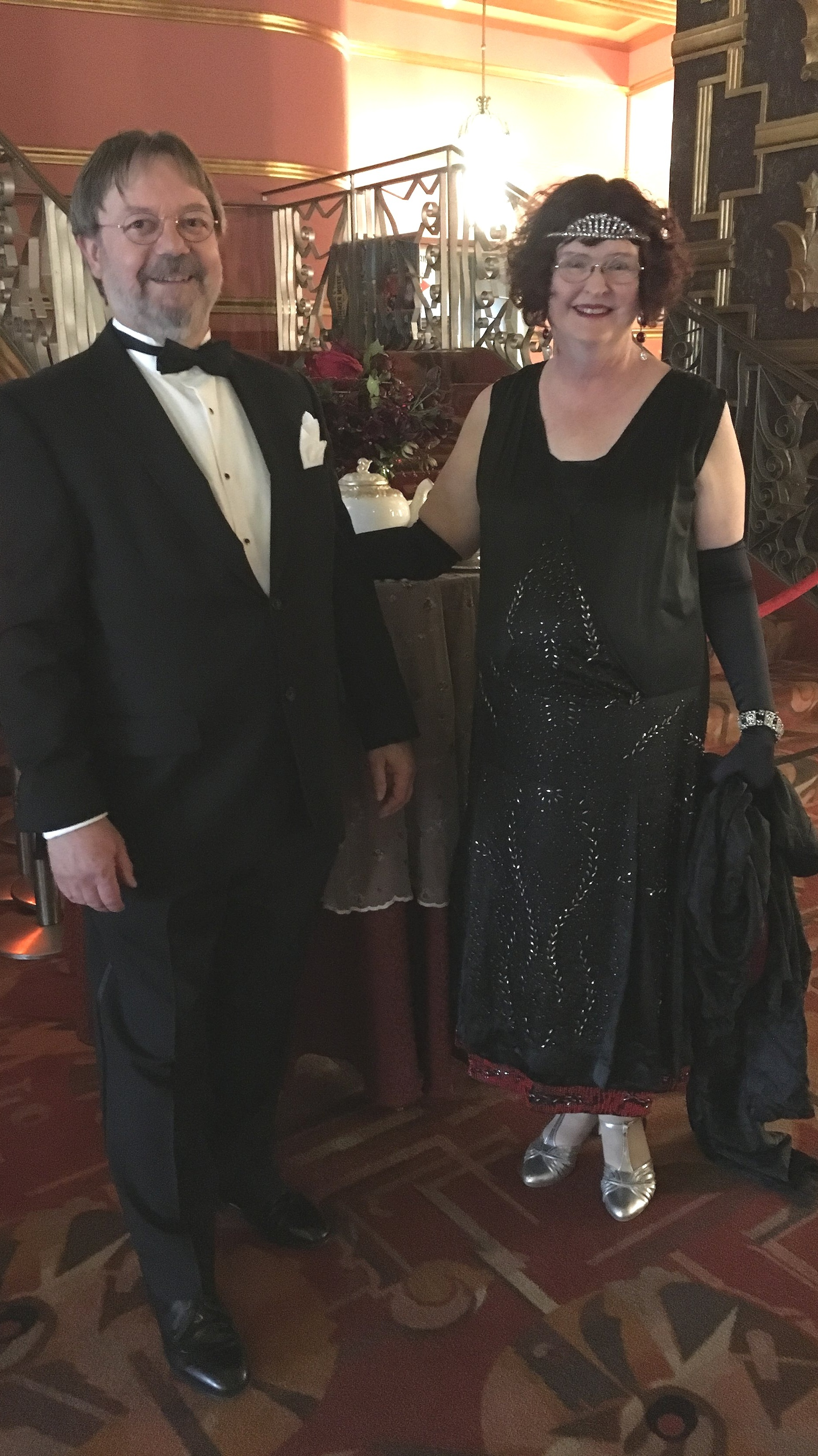 This is Frannie & Steven.  I see them at almost all the vintage events I go to, including Miss Fisher Con.  They are a fantastic couple who alway look spot on!