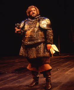 One of my all-time favorite actors, John Goodman, played Falstaff at the Old Globe in San Diego in 1995. I was able to track down a production photo. I'll bet he was wonderful.