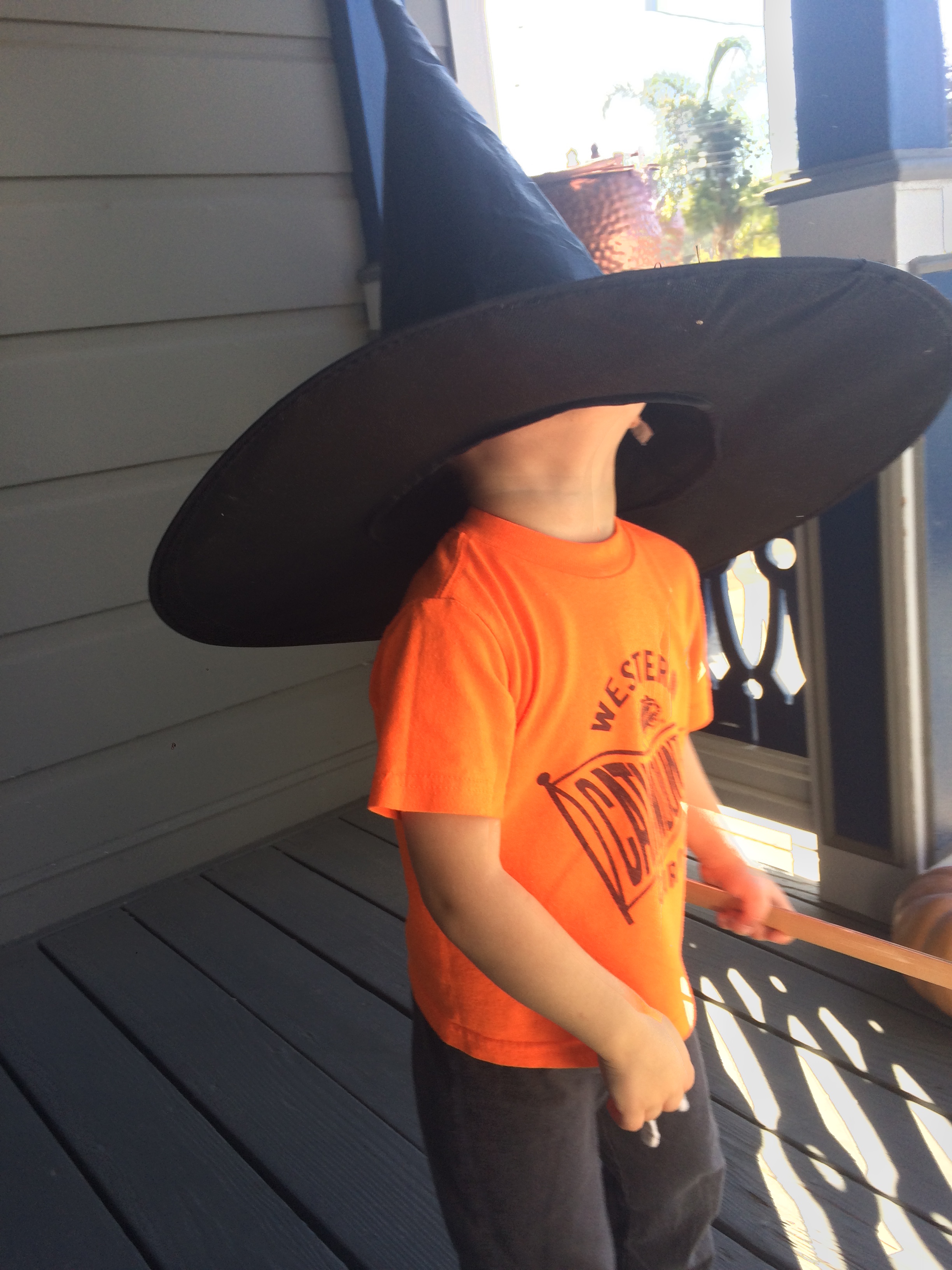 Witches be scary, y'all. Especially when they are 3 feet tall and faceless.