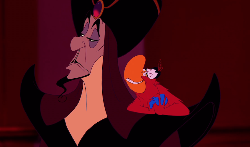 Disney, nailing Iago's bug-in-your-ear version of friendship.