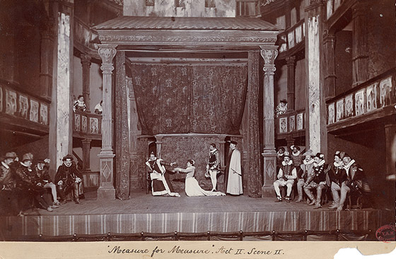 A production of  Measure for Measure  directed by William Poel at Royalty Theatre, London, 1893