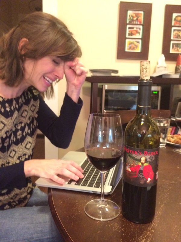 Me, on a typical evening of writing. More fun than it looks.