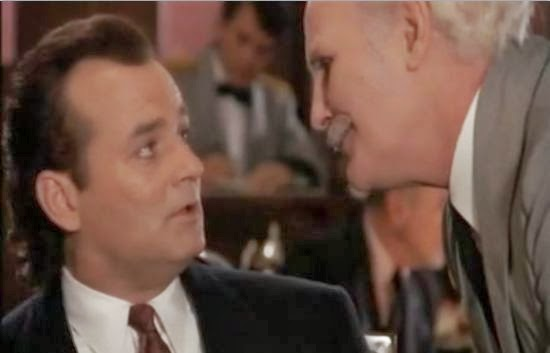 Aeneas, correcting a distraught Bill Murray on his grammar in my favorite holiday film.