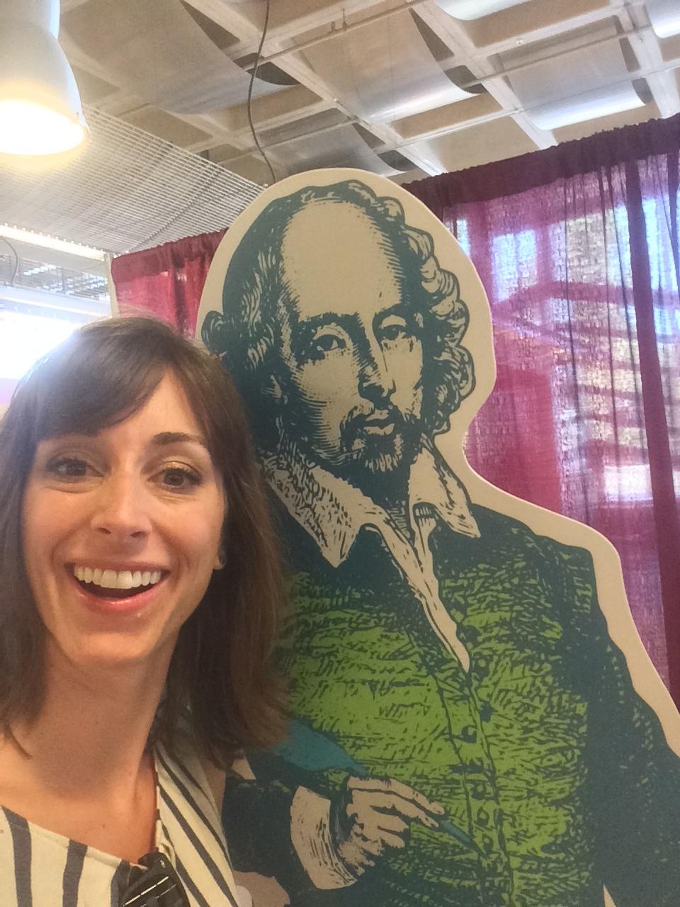 Shakespeare date selfie!