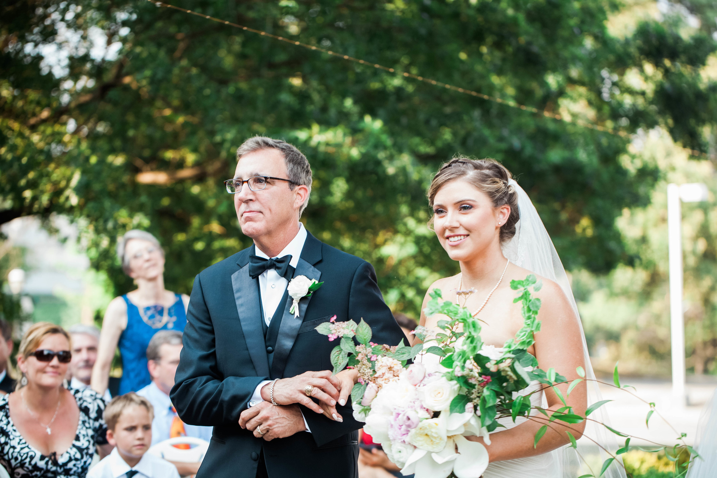 atlanta rhodes hall elegant classy wedding  father daughter
