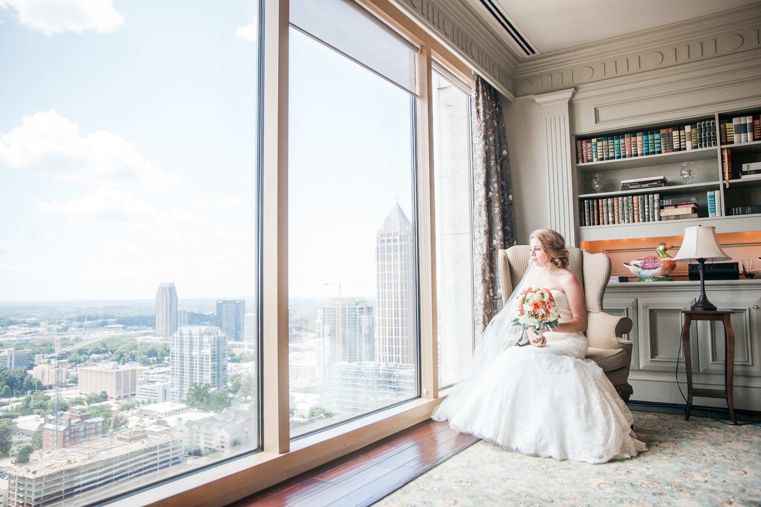 peachtree club beautiful wedding bridal session atlanta