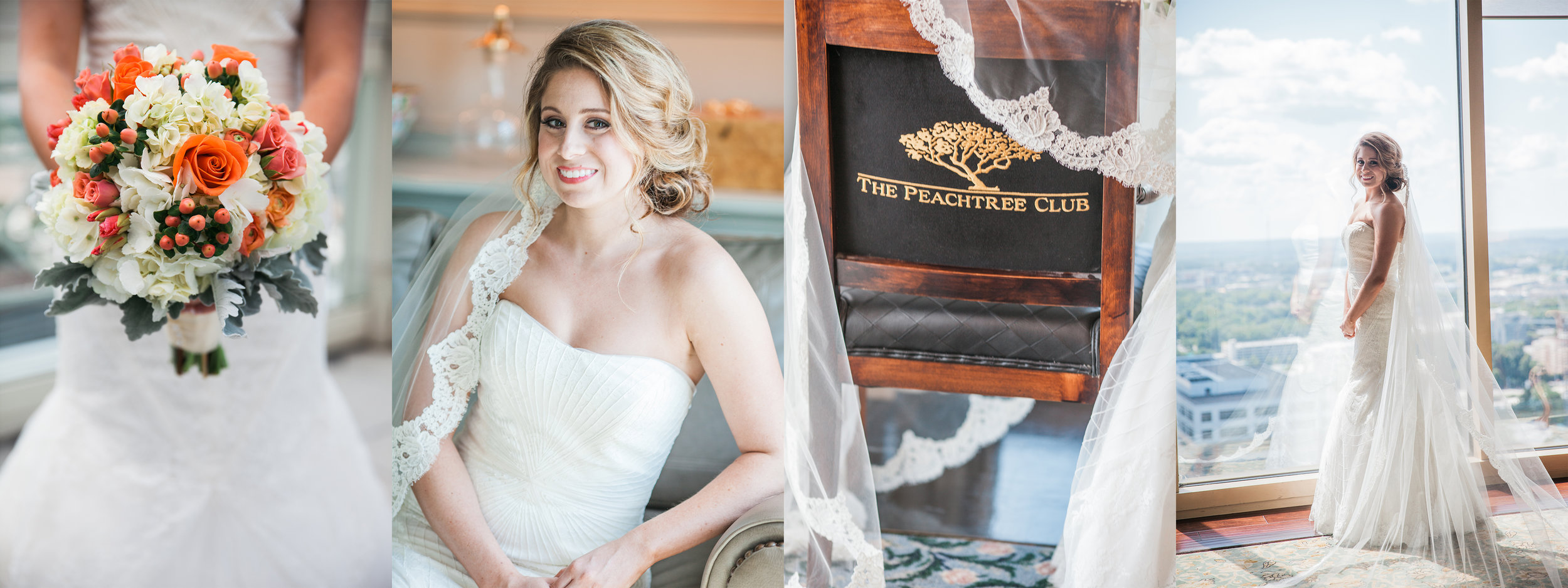 atlanta peachtree club bridal session flower  lace wedding portraits
