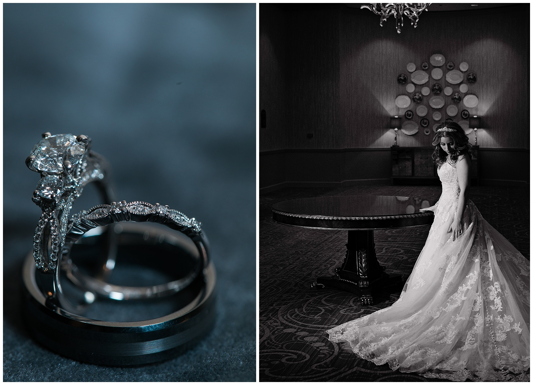 beautiful sparkling ring to match the gorgeous chateau elan decor. opulent and lux and fit for a bride