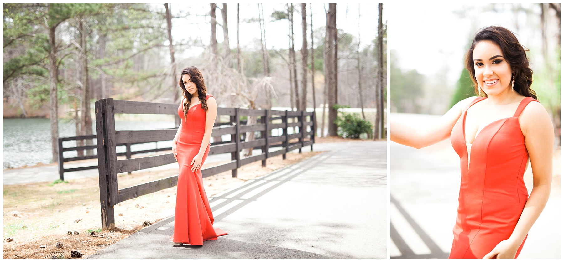 girl atlanta prom dress red outdoors