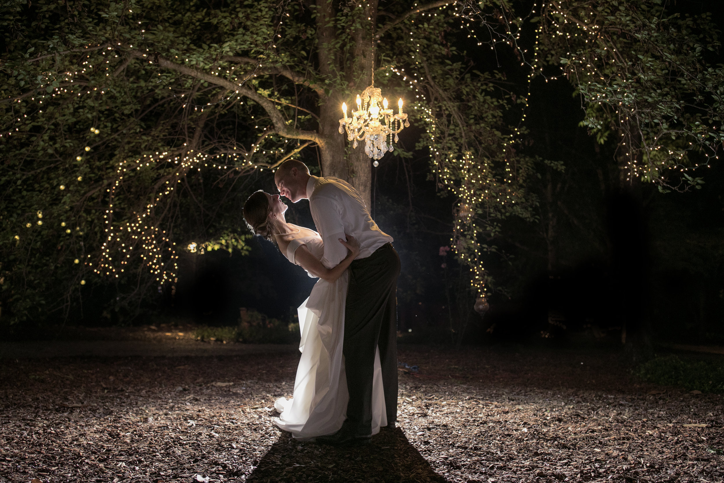 night wedding couple epic chandelier lights romantic