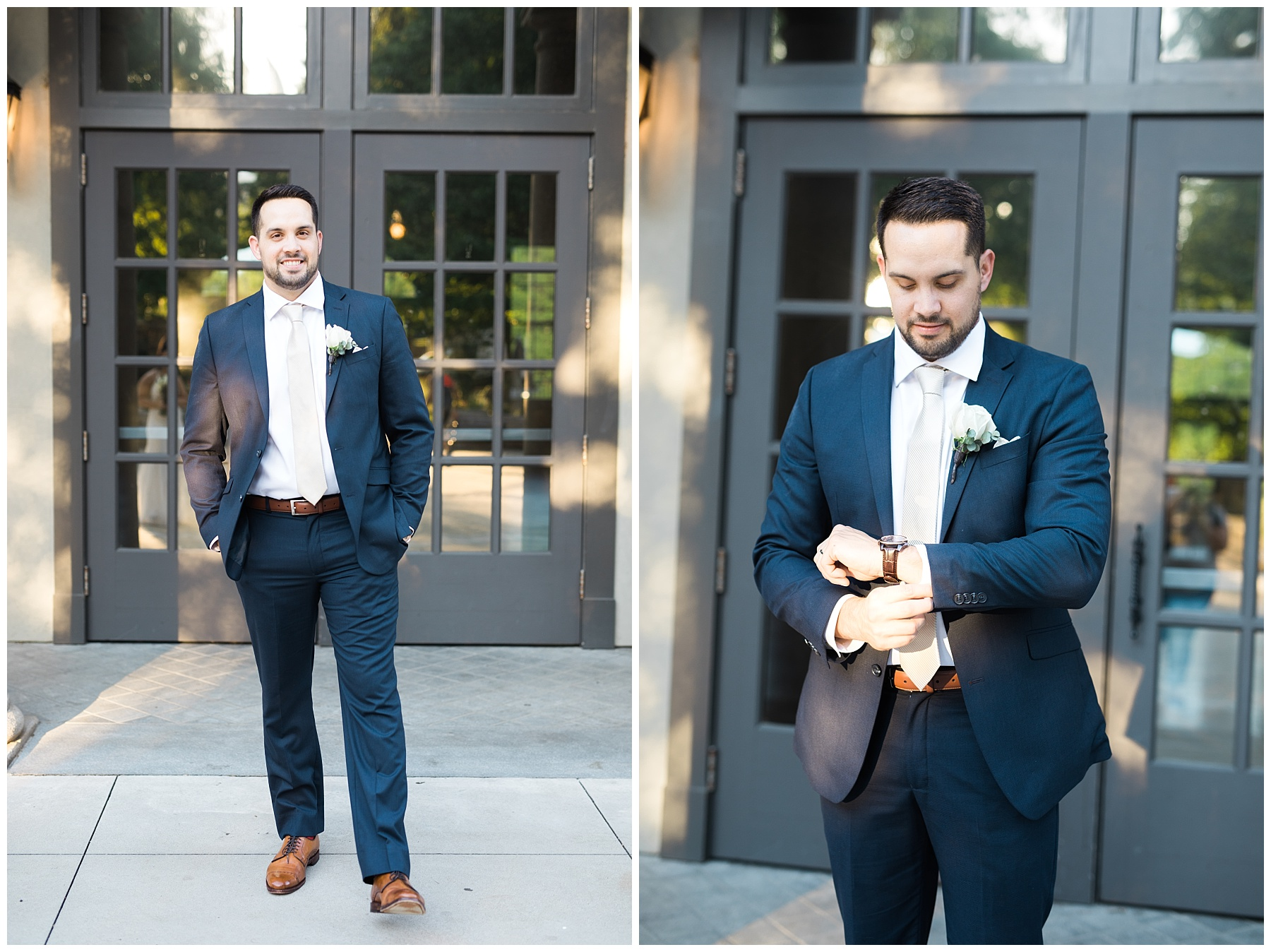 groom marriage wedding suit style elopement atlanta piedmont park midtown
