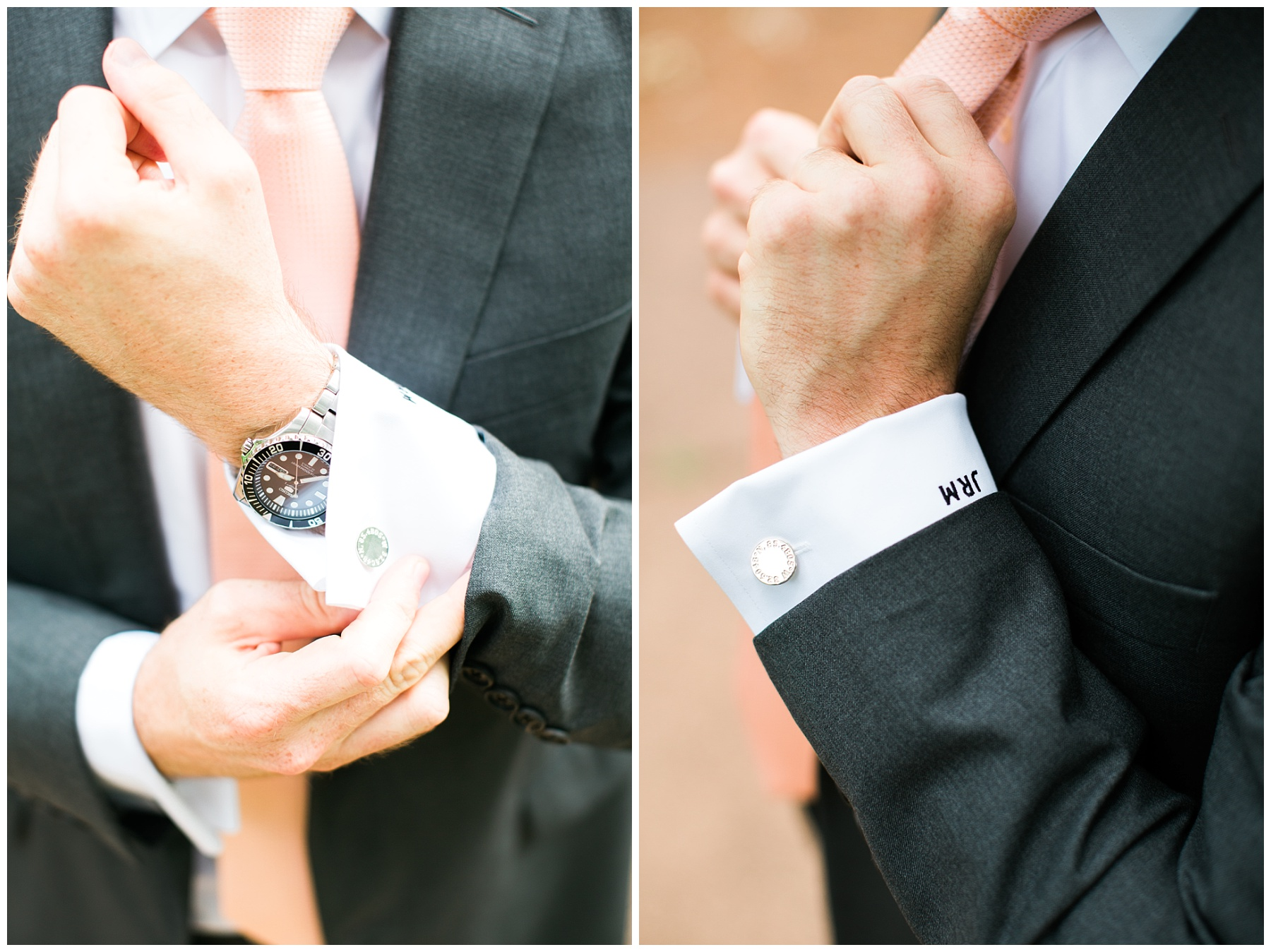 groom cuff suit initials classic style
