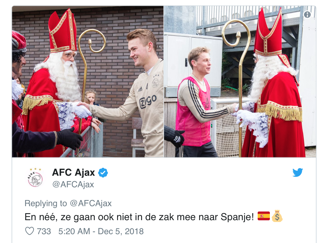 """Translation: """"And no, they won't be going to Spain with us either"""""""