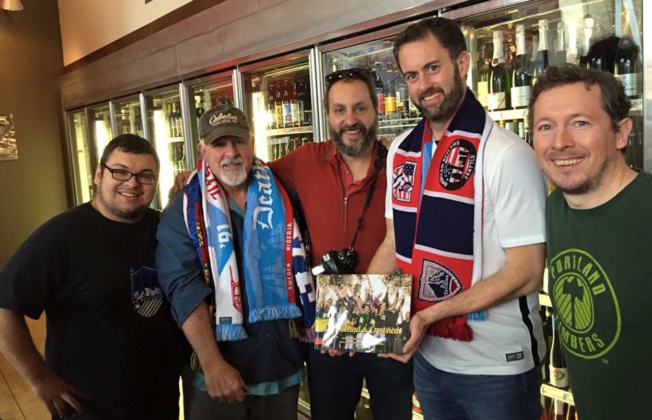 American Outlaws Spokane visit AO PDX at The Toffee Club.