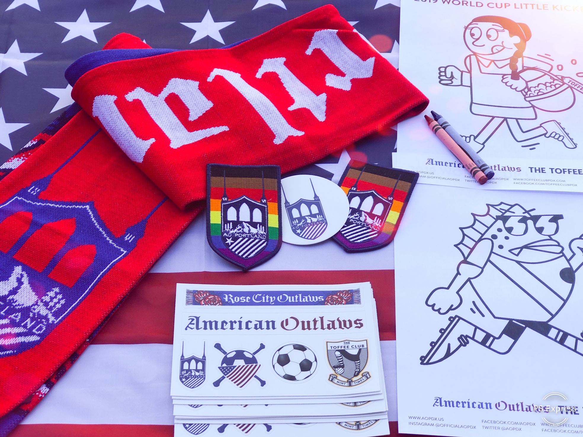 AO PDX coloring scarves and stickers.jpg
