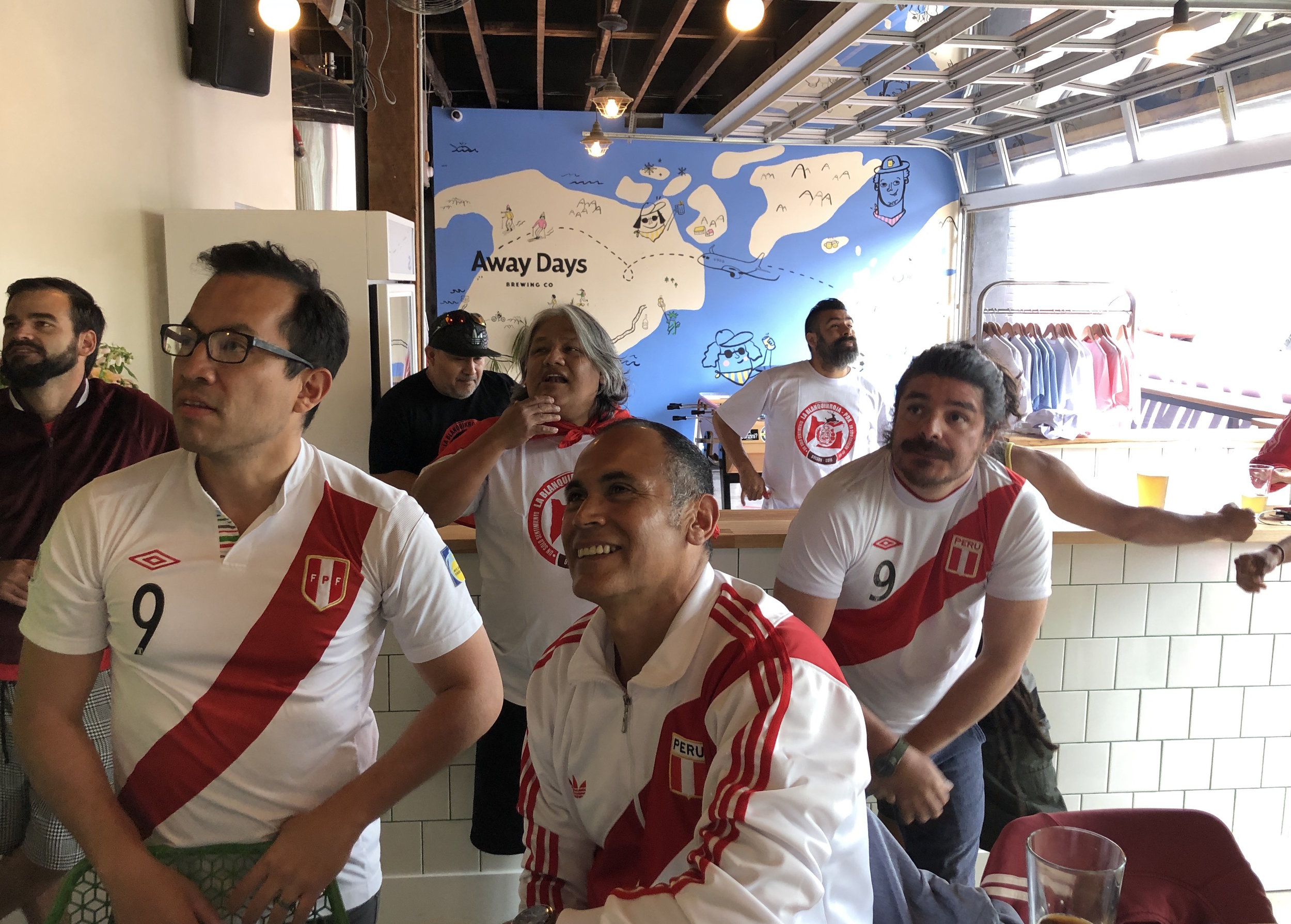 Join la blanquirroja supporters group to cheer on Peru!