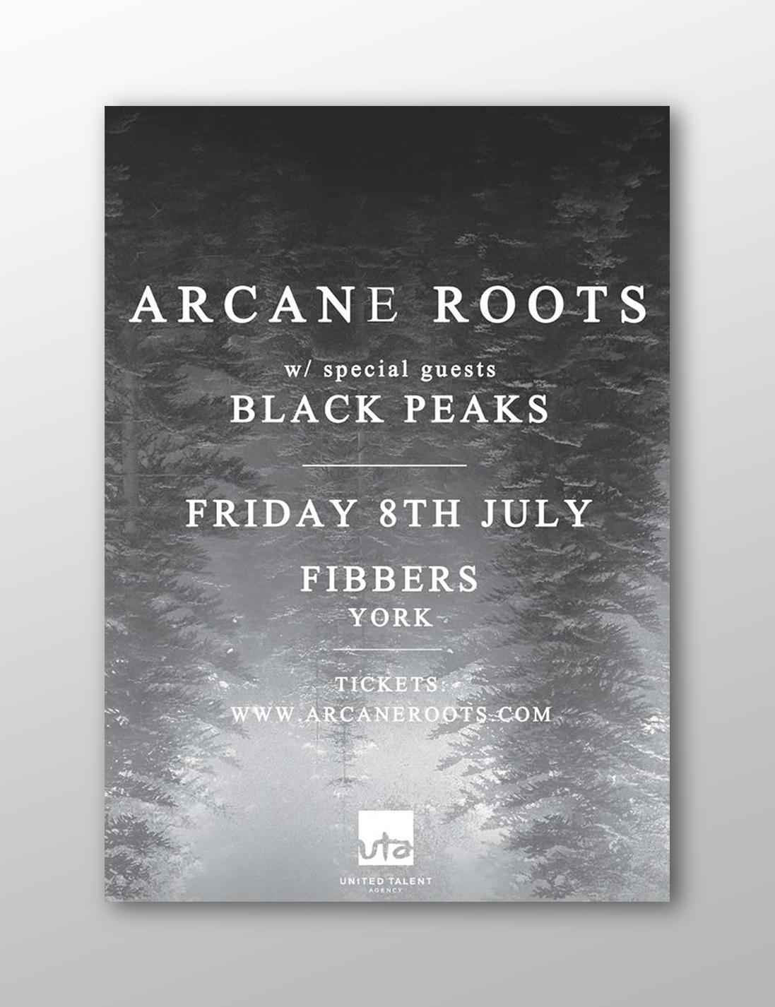 ARCANE ROOTS X BLACK PEAKS JULY 2016